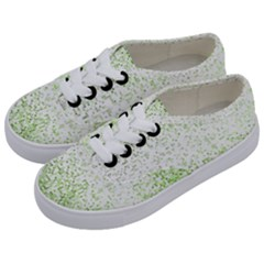 Green Square Background Color Mosaic Kids  Classic Low Top Sneakers by Celenk
