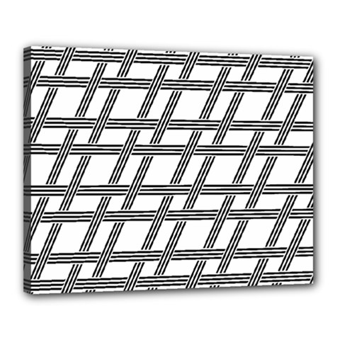 Grid Pattern Seamless Monochrome Canvas 20  X 16  by Celenk