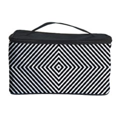 Diagonal Stripe Pattern Seamless Cosmetic Storage Case by Celenk