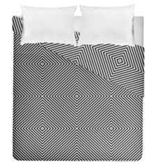 Diagonal Stripe Pattern Seamless Duvet Cover Double Side (queen Size)