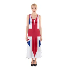 Heart Love Heart Shaped Flag Sleeveless Maxi Dress