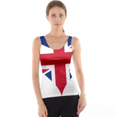 Heart Love Heart Shaped Flag Tank Top