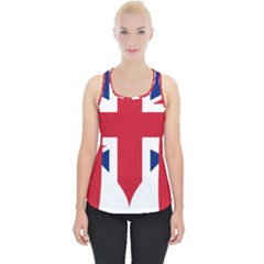 Heart Love Heart Shaped Flag Piece Up Tank Top