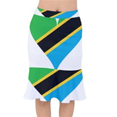 Heart Love Tanzania East Africa Mermaid Skirt