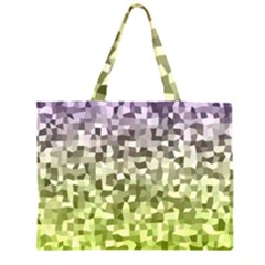 Irregular Rectangle Square Mosaic Zipper Large Tote Bag by Celenk