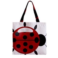 Ladybug Insects Colors Alegre Zipper Grocery Tote Bag by Celenk