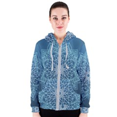 Mandala Floral Ornament Pattern Women s Zipper Hoodie by Celenk