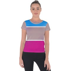 Pattern Template Banner Background Short Sleeve Sports Top  by Celenk