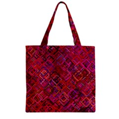 Pattern Background Square Modern Zipper Grocery Tote Bag by Celenk