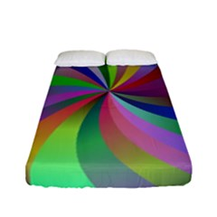 Spiral Background Design Swirl Fitted Sheet (full/ Double Size)