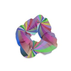 Spiral Background Design Swirl Velvet Scrunchie