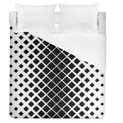 Square Diagonal Pattern Monochrome Duvet Cover (queen Size)