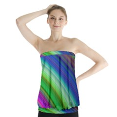 Motion Fractal Background Strapless Top