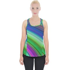 Motion Fractal Background Piece Up Tank Top