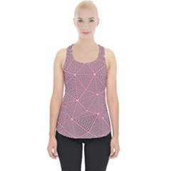 Purple Triangle Background Abstract Piece Up Tank Top by Celenk