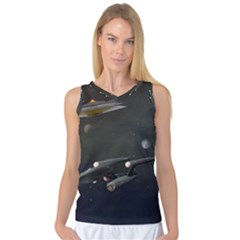 Space Travel Spaceship Space Women s Basketball Tank Top by Celenk
