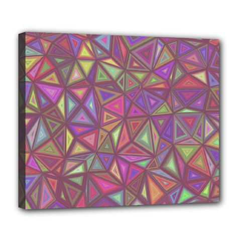 Triangle Background Abstract Deluxe Canvas 24  X 20
