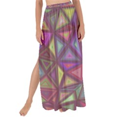 Triangle Background Abstract Maxi Chiffon Tie Up Sarong