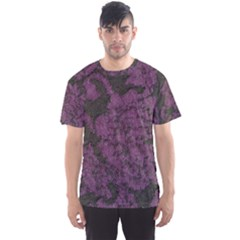 Purple Black Red Fabric Textile Men s Sports Mesh Tee