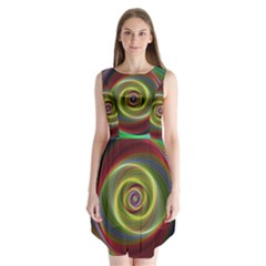 Spiral Vortex Fractal Render Swirl Sleeveless Chiffon Dress