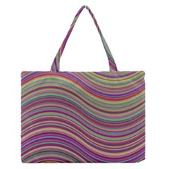 Wave Abstract Happy Background Zipper Medium Tote Bag by Celenk