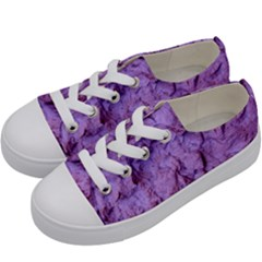Purple Wall Background Kids  Low Top Canvas Sneakers by Costasonlineshop