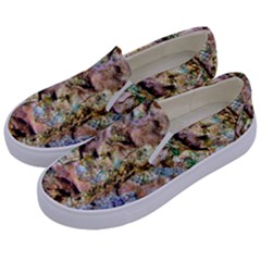 Abstract Background Wallpaper 1 Kids  Canvas Slip Ons by Costasonlineshop