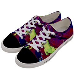 Abstract Painting ,blue,yellow,red,green Women s Low Top Canvas Sneakers by Costasonlineshop