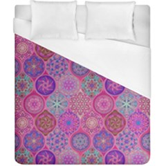 12 Geometric Hand Drawings Pattern Duvet Cover (california King Size) by Cveti