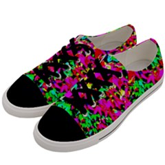 Colorful Leaves Men s Low Top Canvas Sneakers by Costasonlineshop