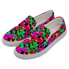 Colorful Leaves Men s Canvas Slip Ons by Costasonlineshop
