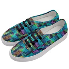 Abstract Square Wall Women s Classic Low Top Sneakers by Costasonlineshop