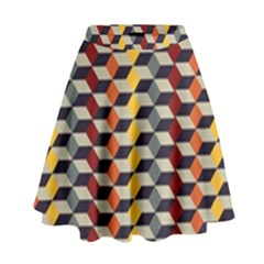 Native American 7 High Waist Skirt by Cveti