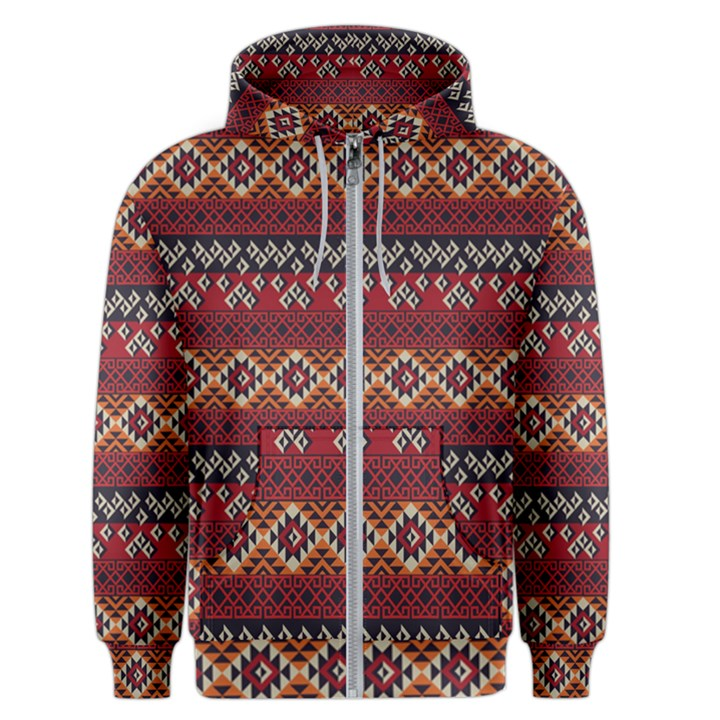 Native American Pattern 8 Men s Zipper Hoodie