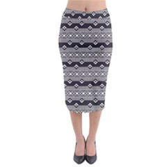 Native American Pattern 9 Midi Pencil Skirt by Cveti