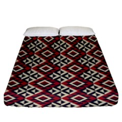 Native American 10 Fitted Sheet (king Size) by Cveti