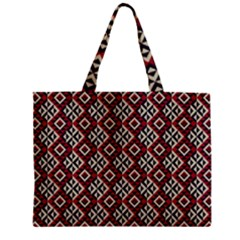 Native American 10 Zipper Mini Tote Bag by Cveti
