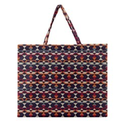 Native American Pattern 14 Zipper Large Tote Bag by Cveti
