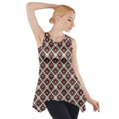 Native American Pattern 18 Side Drop Tank Tunic by Cveti