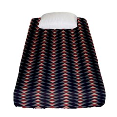 Native American Pattern 20 Fitted Sheet (single Size) by Cveti