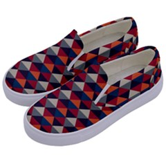 Native American Pattern 21 Kids  Canvas Slip Ons by Cveti