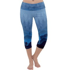 Blue Mountain Capri Yoga Leggings