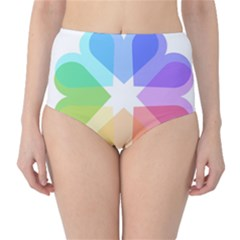 Heart Love Wedding Valentine Day High-waist Bikini Bottoms