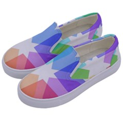 Heart Love Wedding Valentine Day Kids  Canvas Slip Ons by Celenk