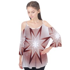 Star Christmas Festival Decoration Flutter Tees
