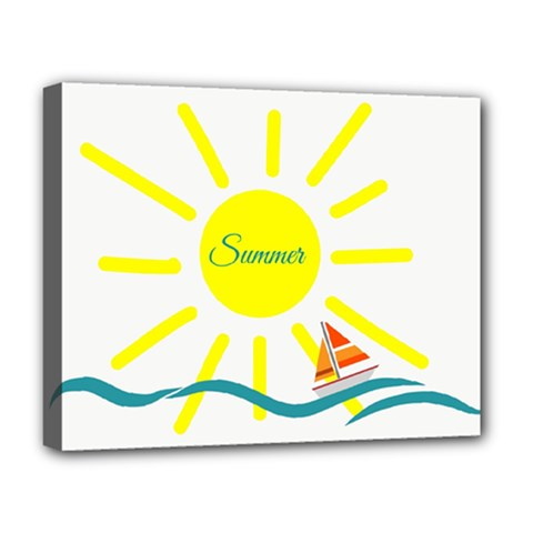 Summer Beach Holiday Holidays Sun Deluxe Canvas 20  X 16   by Celenk