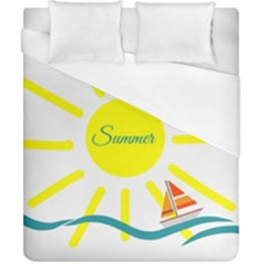 Summer Beach Holiday Holidays Sun Duvet Cover (california King Size) by Celenk