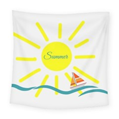 Summer Beach Holiday Holidays Sun Square Tapestry (large) by Celenk