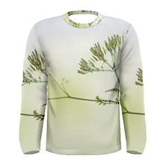 Spring Plant Nature Blue Green Men s Long Sleeve Tee by Celenk