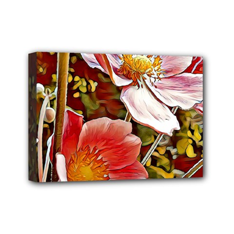 Flower Hostanamone Drawing Plant Mini Canvas 7  X 5  by Celenk